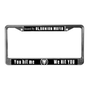 albanian_mafia_license_plate_frame