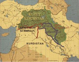 kurdistan harita