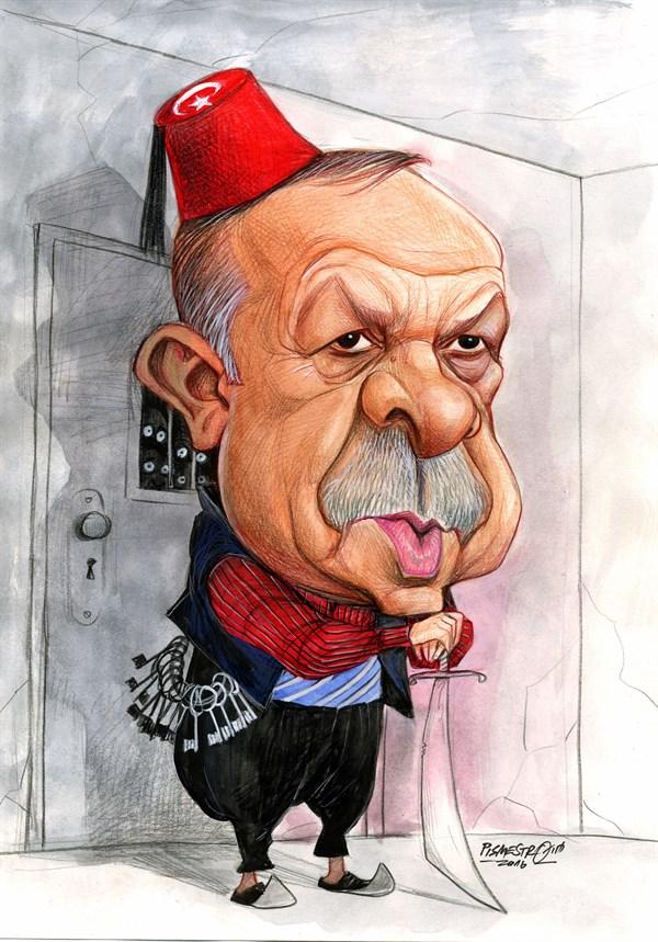 karikatur: Recep Tayyip Erdogan